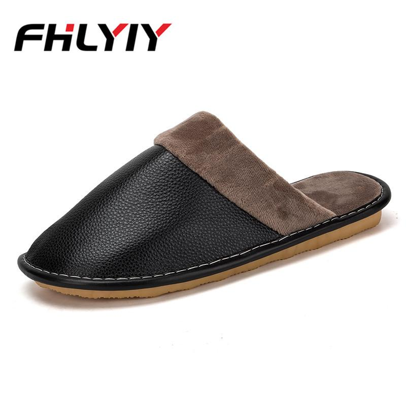 9b9938024653 Men Indoor House Slippers Short Plush Flat Fashion Autumn Winter Slippers  Soft Floor Casual Shoes Zapatos De Hombre Men Slipper Mens Slippers Boots  For ...