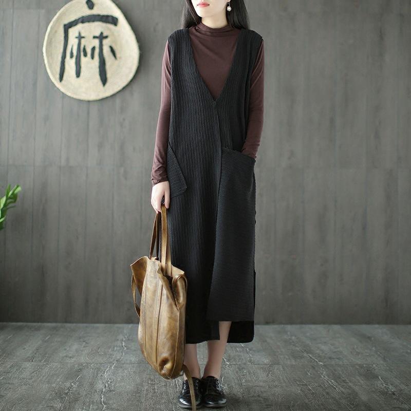 2019 Runback Knitted Jumper Dress Women Black Jurken Winter Warm