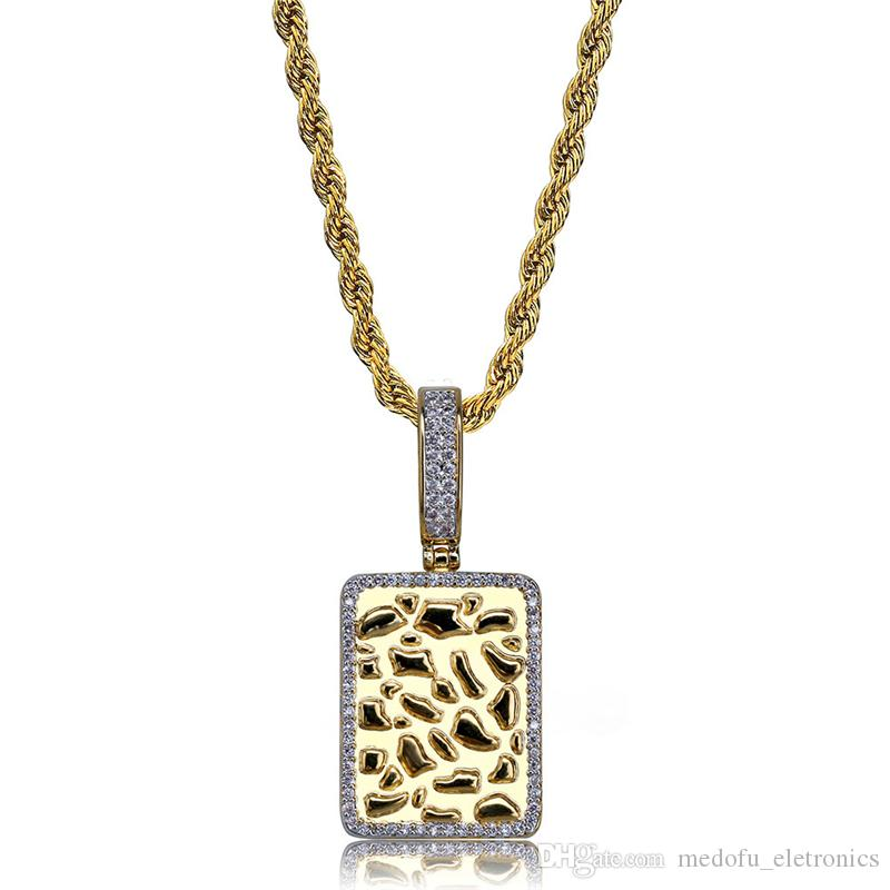 479062d193 New Fashion Men Necklace Hip Hop Jewelry Gold Plated AAA CZ Brick Pendant  Necklaces Dj Rap Style Hipster Mens Jewellery Online with $17.97/Piece on  ...
