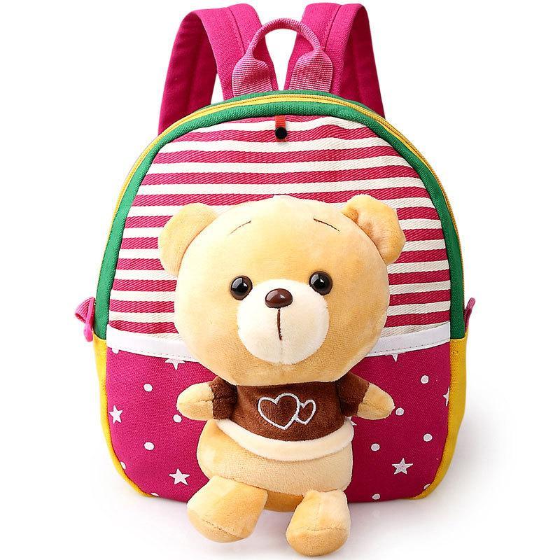 bbf9431cdb40 Cute Plush Bear Baby Kids Girls Doll Bags Mochil Little Children s Backpack  Kindergarten School Bag For Boys Satchel For Age 1 3 Purses School Bags  From ...