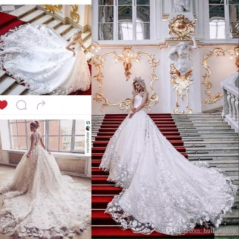 Discount Luxury Princess Wedding Dresses 3d Floral Applique ...