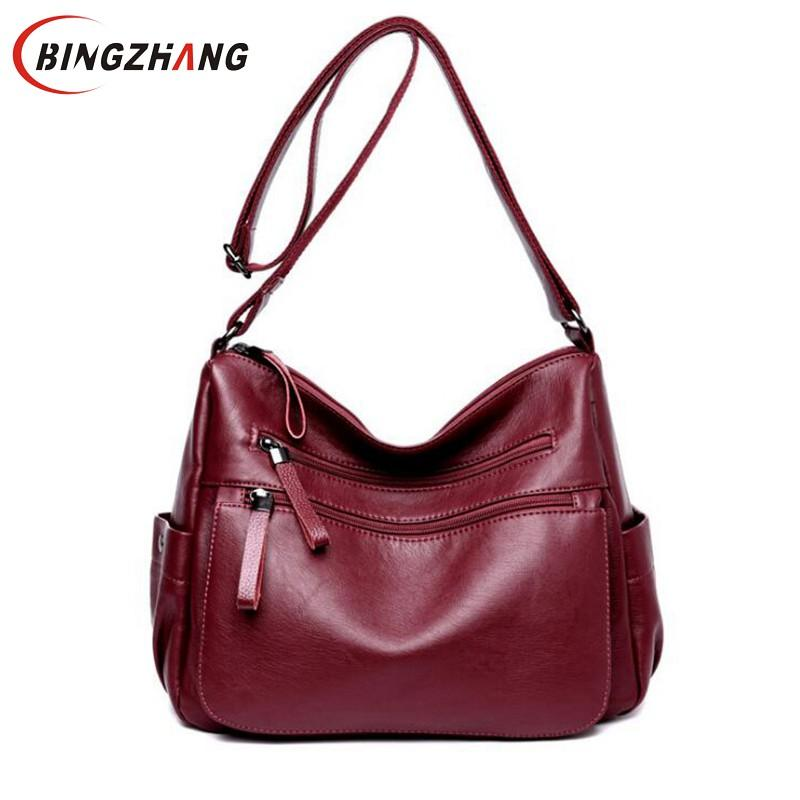 Female Casual Shoulder Bags Ladies Messenger Bag Design Zipper Hobos  Women S Messenger Bags Bolsa Women Leather Handbags L4 3271 Leather Backpacks  Hobo ... f410978b9afca
