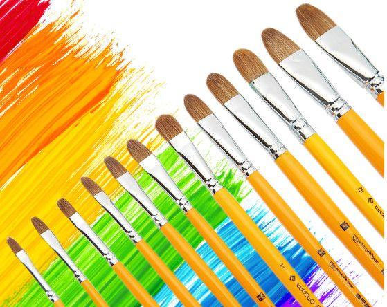 Boyama Malzemeleri Langhao fırça kalem boyama guaj suluboya fırça kafası kurt akrilik guaj fırçalar