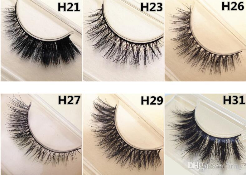 Faux cils 100% fait main Lashes croix épaisse désordre naturel crins yeux 12 Styles Maquillage Faux Cils