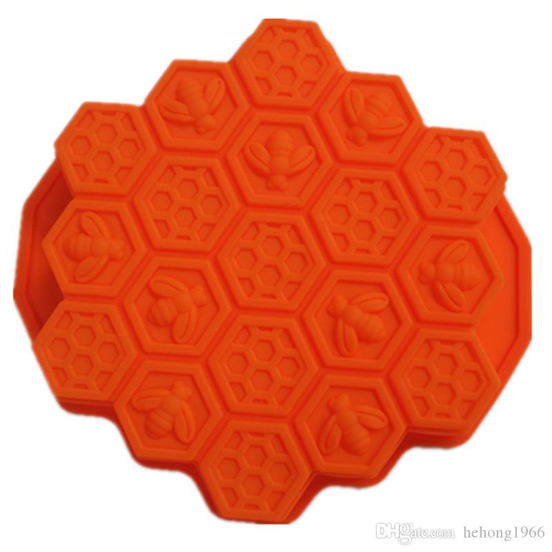 Eco Friendly Super Soft Cupcake Cookies Candy Stampo Materiale in silicone Honeycomb Honeybee forma stampi la cottura in cucina 7 2bd Z