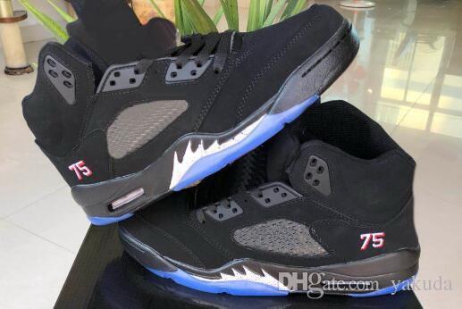 2018 Nuevos Zapatos De Baloncesto Negros De Diseño 5 BCFC PSG ... c836cb4b196