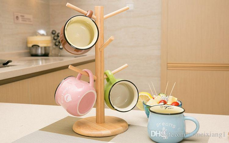 New Creative Home Tea Cup Stand Mark Storage Upside Down Bamboo Wooden  Drain Rack Cup Holder Home Storage Modern Online With $625.0/Piece On  Tzmeixiang1u0027s ...