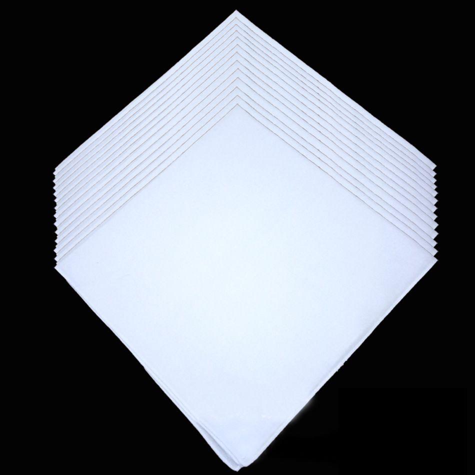 Wholesale white handkerchief, plain white square scarf, can tie dye painting DIY printing, 34X34CM