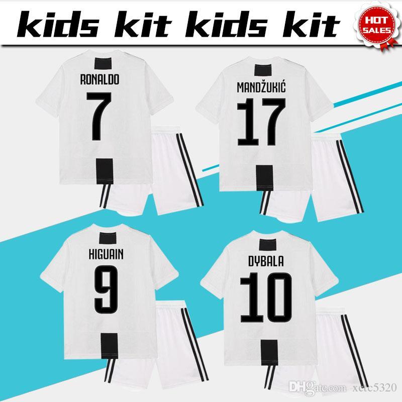 2019 Juventus Soccer Jersey Kids Kit 18 19  7 RONALDO Home Boy Soccer  Jerseys 2019  10 DYBALA Child Soccer Shirts Uniform Jersey+Shorts From  Xctc5320 8f8f16ef6