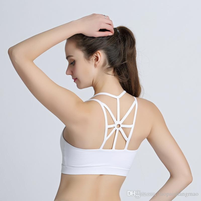 New style boutique back circle bra, European and American fashion sports bra ventilation, fast drying Yoga lingerie factory direct sales