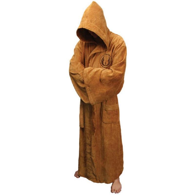 Star Wars Jedi Knight Bath Robe For Man Black Costumes, Reenactment, Theater
