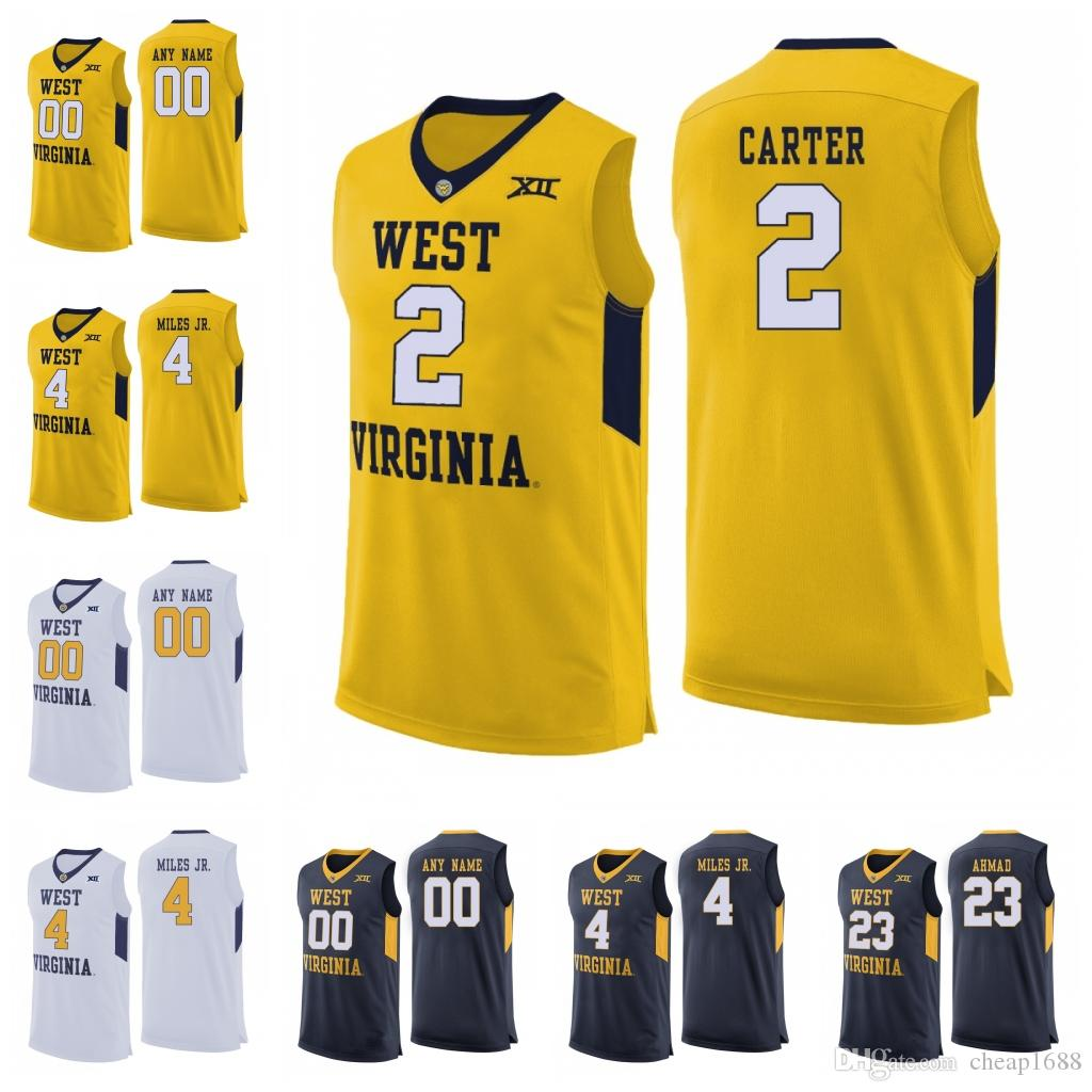 99c868b2d 2019 West Virginia Mountaineers 2 Jevon Carter 4 Daxter Miles Jr. 50 Sagaba  Konate 23 Esa Ahmad Custom Any Name Number College Basketball Jersey From  ...