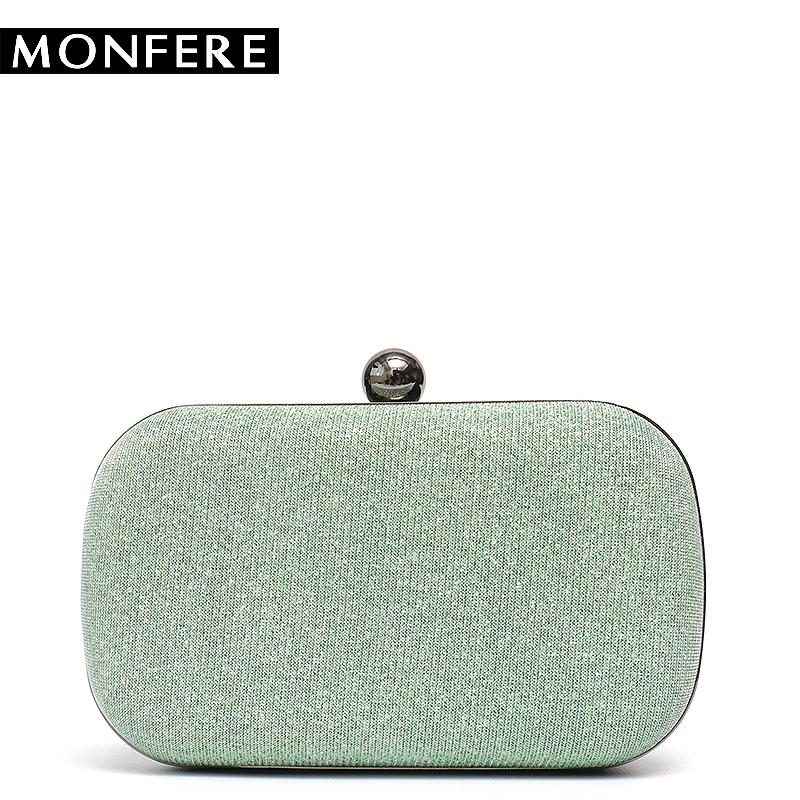 ec3e78081ec2 MONFERE Women Evening Bag Clutches for Ladies Party Purse Hard Case Shiny  Metal Round Box Small Luxury Hand bag Messenger