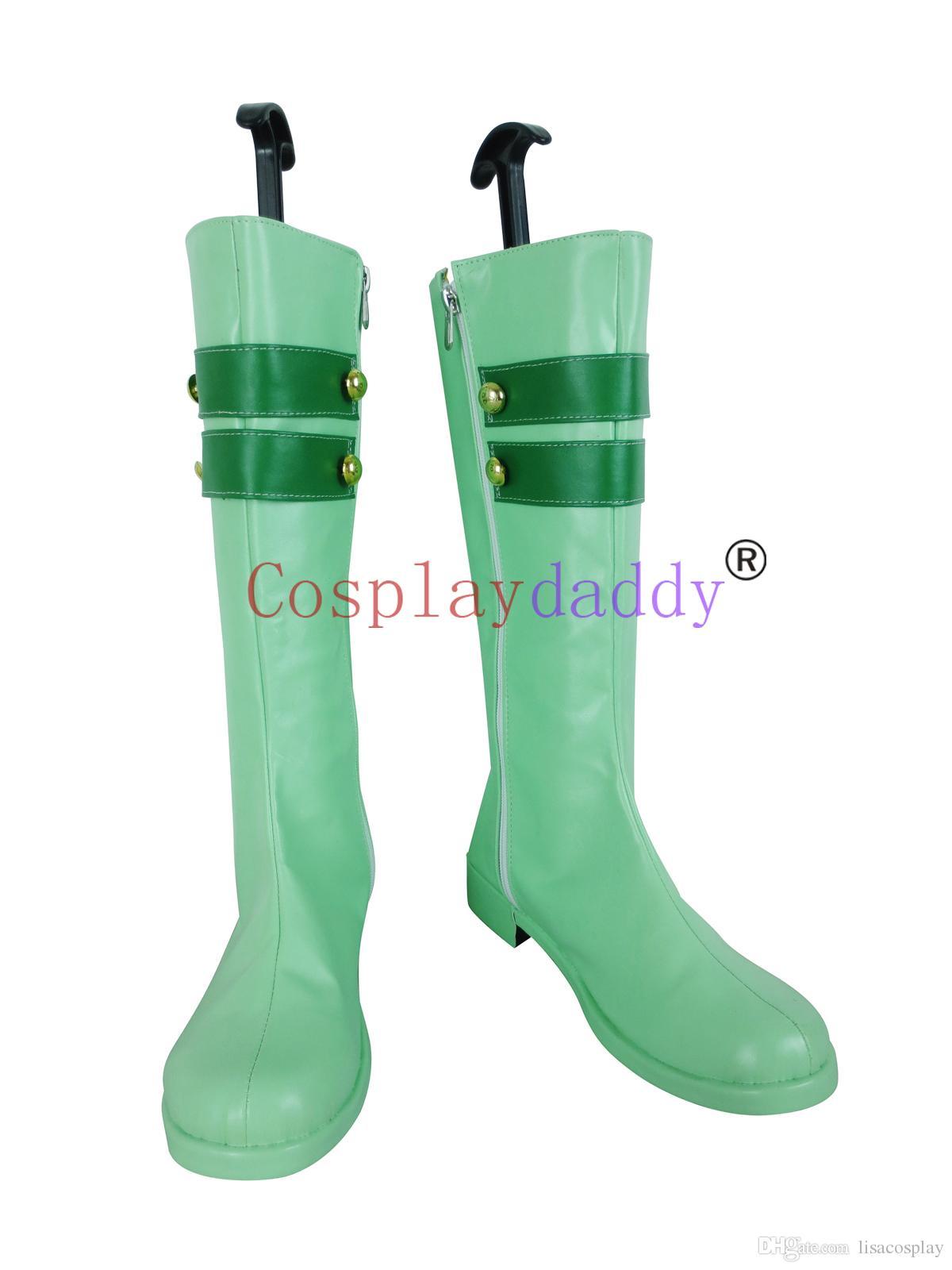 ¡Ama vive! Love Live Start dash !! Minami Kotori Green Cosplay Shoes Boots X002