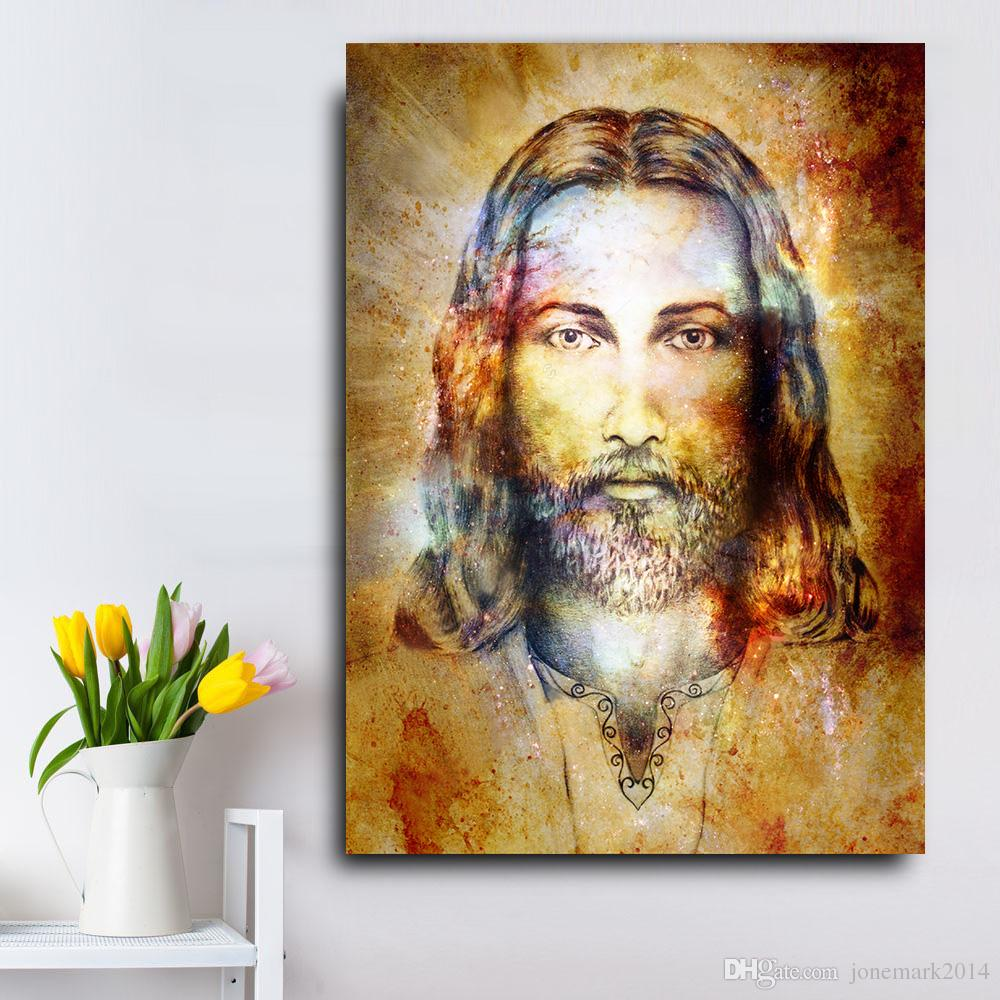 1 Pcs Jesus Christ Figure HD Wall Pictures For Living Room Quality Canvas Oil Painting Home Decor Posters Artworks No Framed