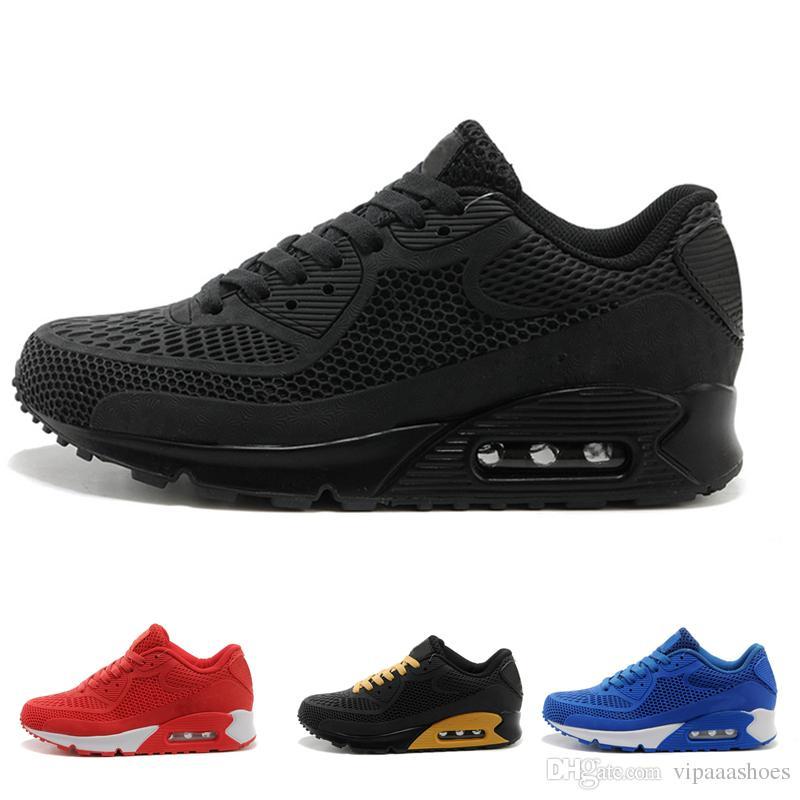 finest selection 44aea 63bdb Acheter Hot Selling Nike Air Max Airmax 90 KPU 2018 Vente Chaude Haute  Qualité Coussin Alr 90 KPU Hommes Classique 90 Casual Chaussures Baskets  Sneakers ...