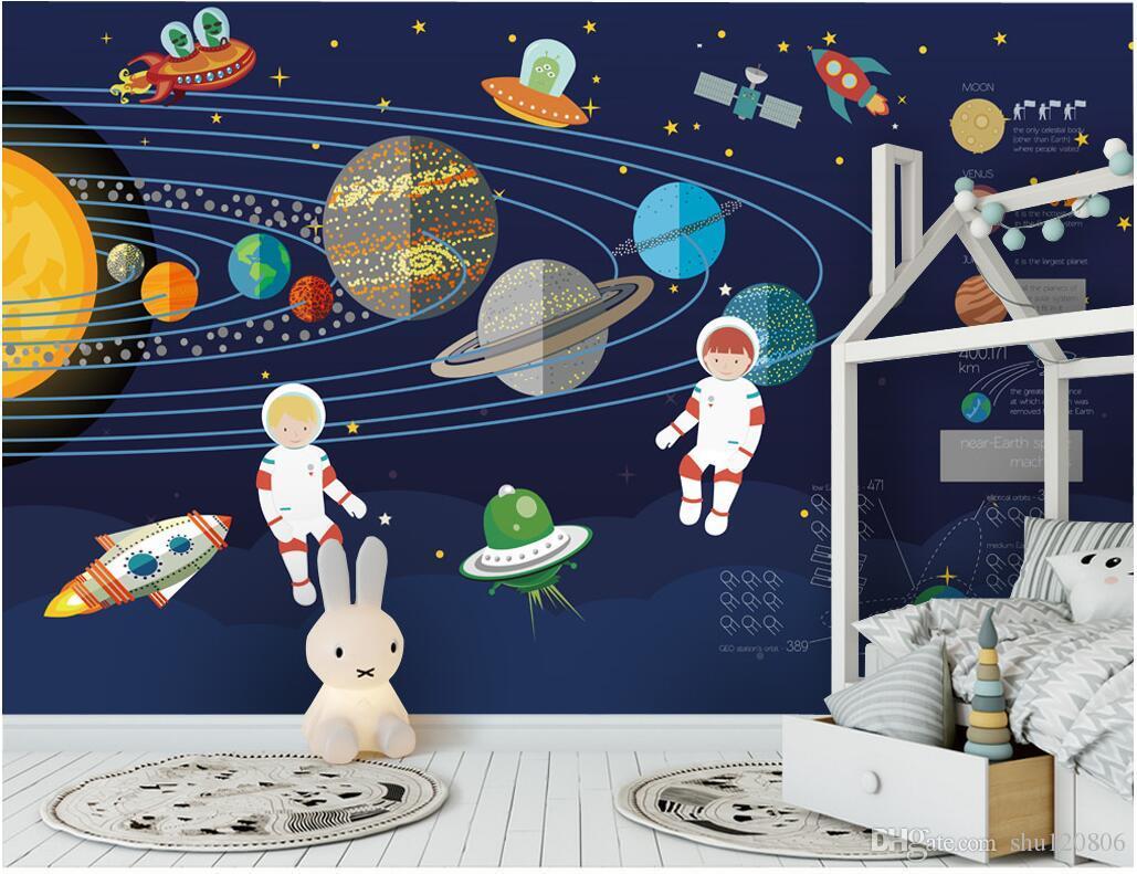Acheter 3d Papier Peint Personnalisé Photo Murale Fusée Espace Thème