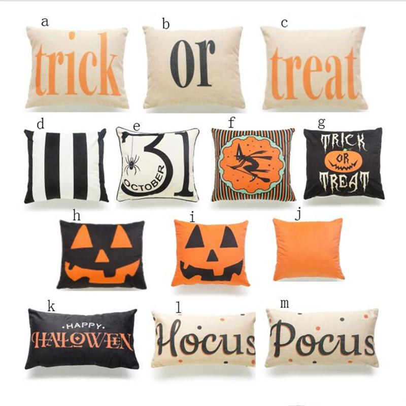 Halloween Pillow Case Pumpkin Trick Or Treat Wizard Throw Pillow Gorgeous Halloween Pillows Decorations