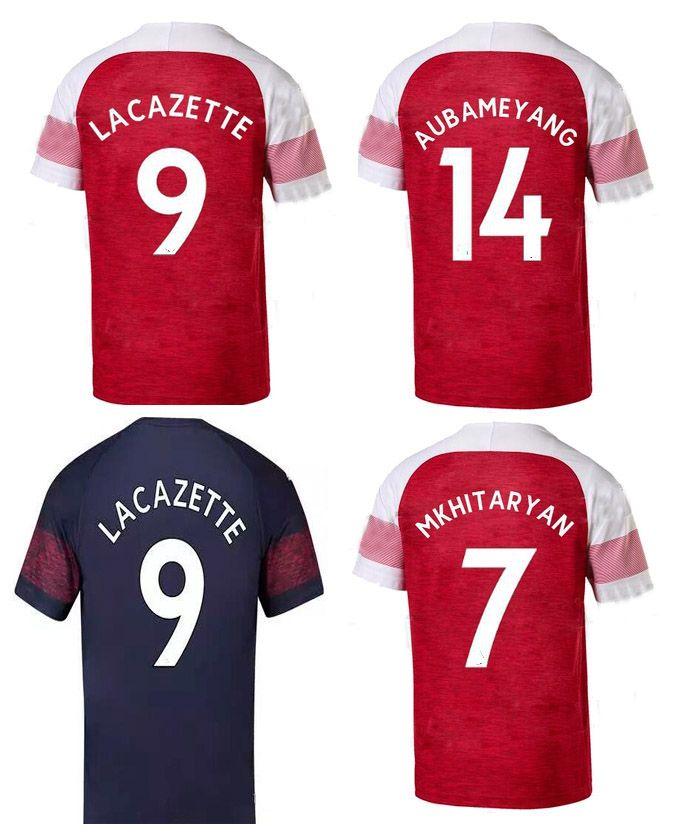 27092eab3 18 19 Arsenals Soccer Jersey OZIL Henry Lacazette AUBAMEYANG ...