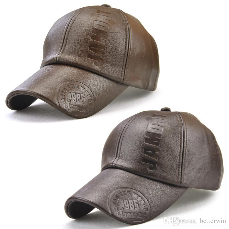 New PU Leather Baseball Cap High Quality Casual Mens Snapback Hat Fashion Dad  Hat Bone Gorras Cap Shop Flexfit Caps From Betterwin 1f4b74179e31