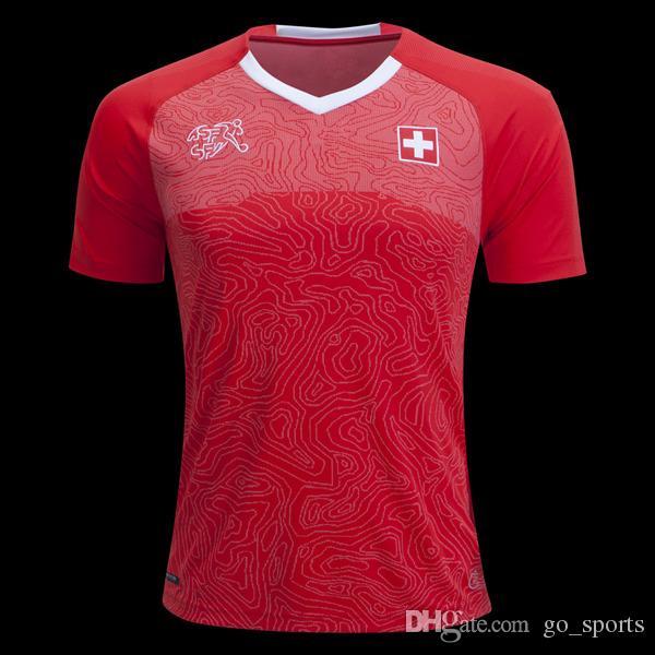 f1faee463 ... 2018 switzerland home soccer jerseys customized best quality embolo  xhaka rodriguez zakaria shaqiri