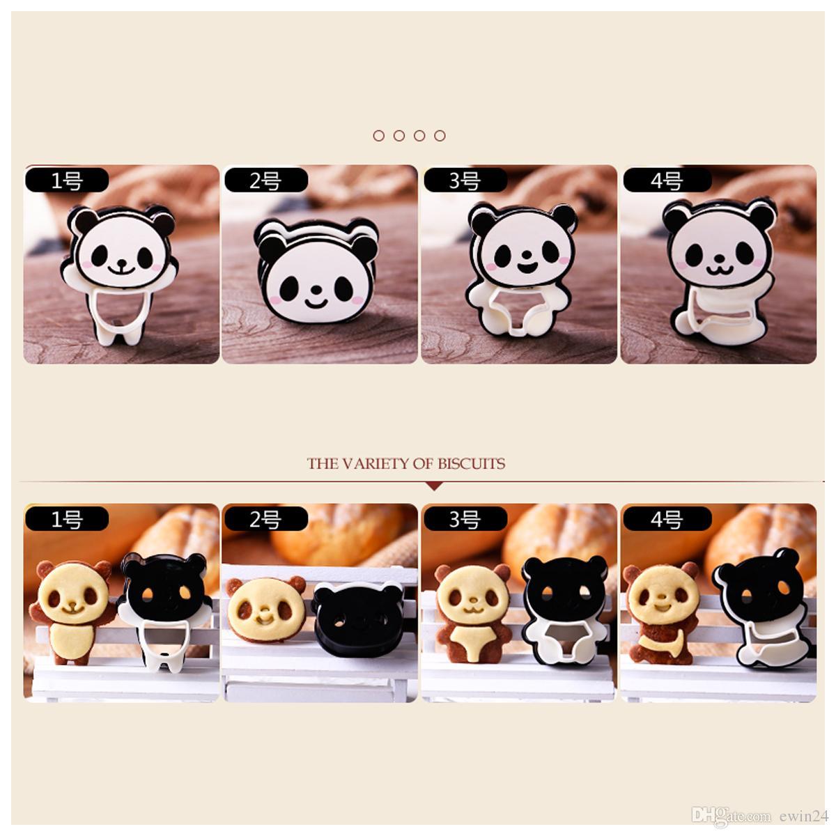Kit de galletas de bolsillo Panda lindo Sandwich de molde y galletas de pan Set de 4 regalos de San Valentín