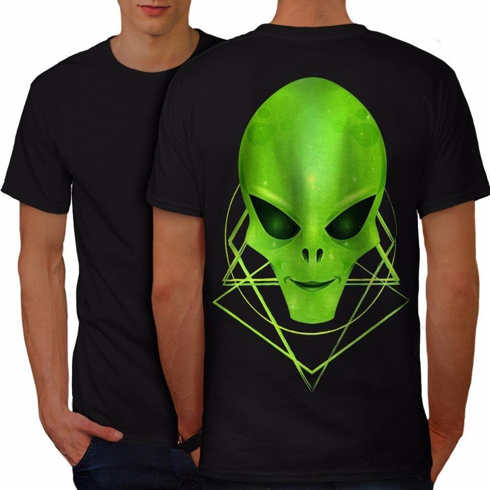6c71e22f67a8 Custom Printed Shirts Men'S Short Sleeve Premium O Neck Alien Head Mystic  Fantasy Men T Shirt Back New Tee Shirts T Shirts Funky Tee Shirt For Sale  From ...