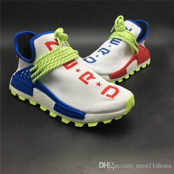 14e3b5f537a8 2018 New Release NMD NERD CREME White Blue Red Men Women Casual Shoes Come  With Box EE6283 5.5-12 With OG Box EE6283 White Blue Red Casual Shoes New  Release ...
