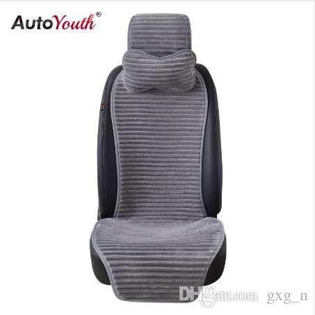 AUTOYOUTH New Winter Nano Velvet Car Seat Cover With Headrest Ed Universal Cushion Protector Styling Baby Seats Covers Carrier