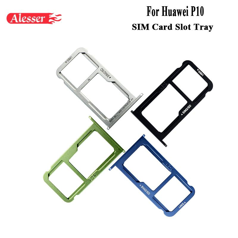 Huawei P10 Sim Karte.Alesser For Huawei P10 Sim Card Holder Tray Slot Replacement Part Sim Card Holder Adapter Socket For Huawei P10