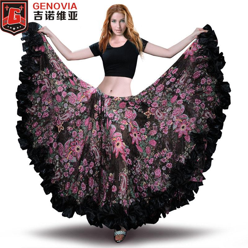 de3de2377 2019 2018 Belly Dance Chiffon Tribal Bohemia Gypsy 25 Yard 720 Long Skirt  Flamenco Skirt Belly Dance Gypsy Tribal ATS From Peay, $67.33   DHgate.Com