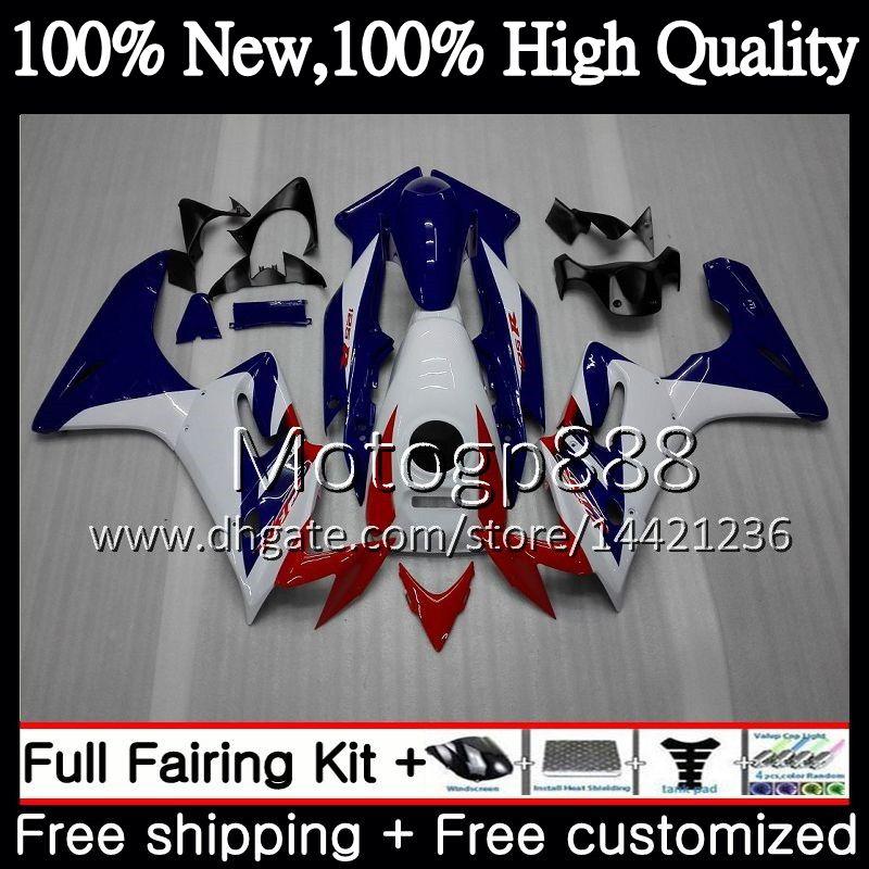 Кузов + бак для HONDA CBR-125R 125CC CBR125RR CBR125R 02 03 04 05 06 63PG13 CBR 125R 2002 2003 2004 2005 2006 синий белый обтекатель кузов