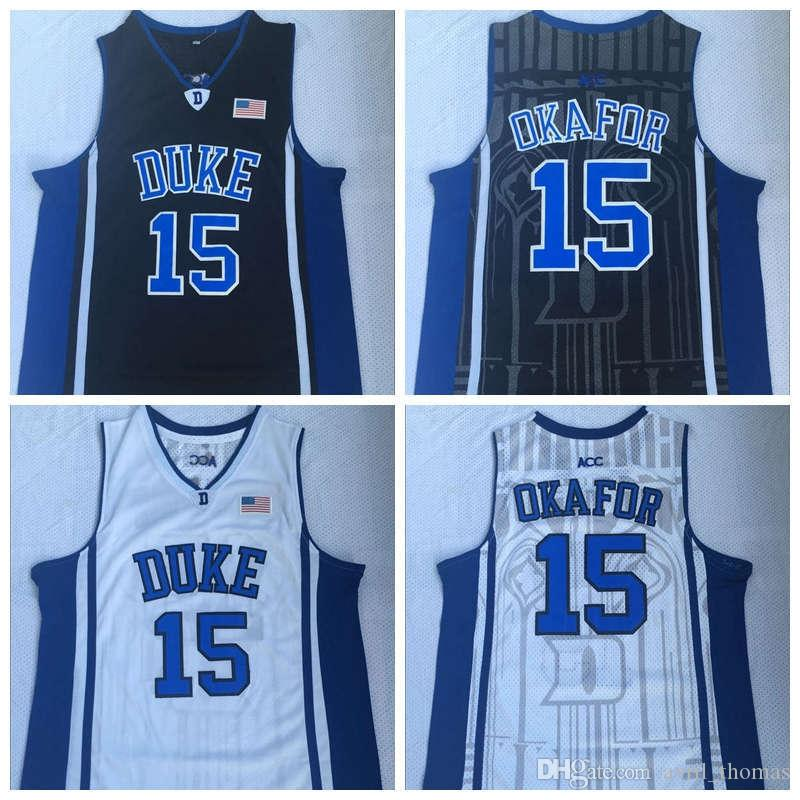 42b6a1beff8 ... uk duke blue devils 15 jahlil okafor college basketball jerseys white  black stitched new 06b28 9aabe