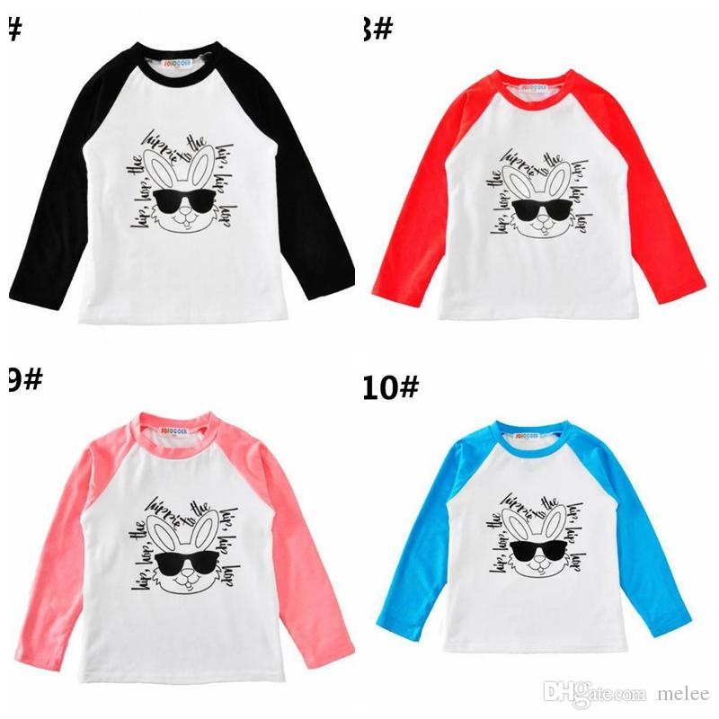 071b93140db8 EAster Day Bunny Boys Girls Cotton RAbbit T-shirts Tshirts Clothing Cartoon  Letters Long Sleeve Infant Tshirts Boutique Infant Tees Tops Baby INS  Cardigan ...
