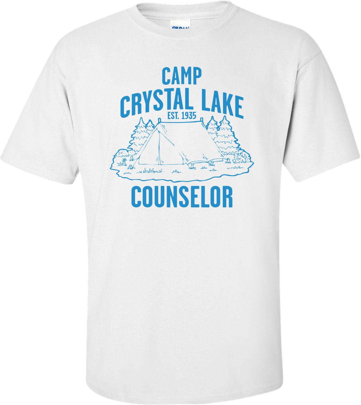 e41c3bf62bef Camp Crystal Lake Counselor T Shirt Summer Style Fashion Men T Shirts Top Tee  Summer New Men Cotton Print Round Neck Man Funky T Shirt Design T Shirt  Every ...