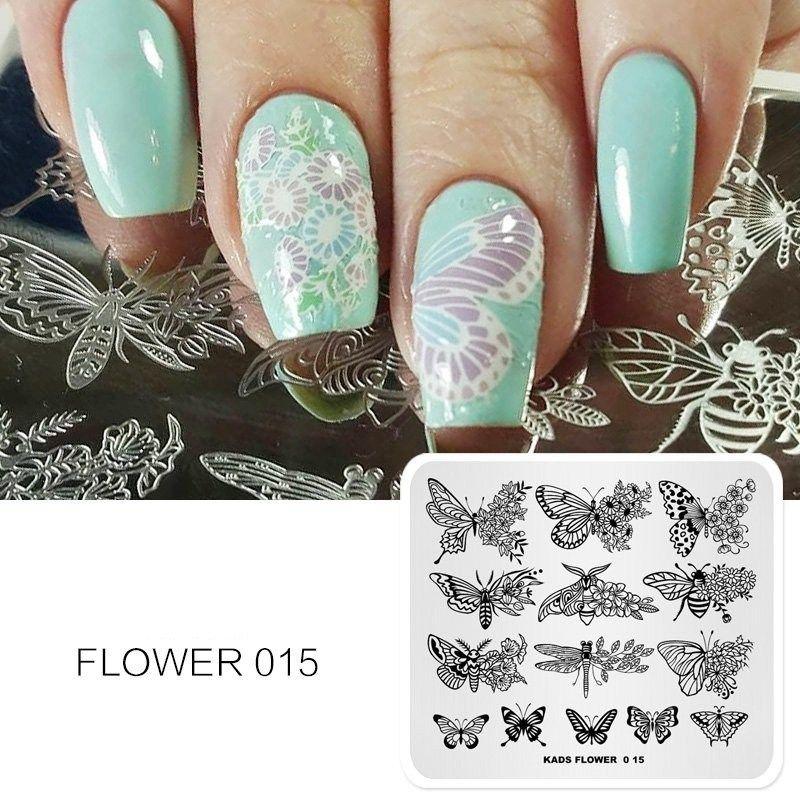 Nail Art Templates Flower Pattern Design New Arrival Nail Art