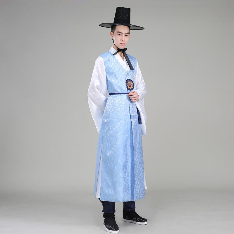 d4fe4329c5 2019 Silk Orthodox Korean Traditional Costume Men Korean Royal Wedding  Costume Satin Male Hanbok Ethnic Clothing 18 From Purlove, $99.69 |  DHgate.Com