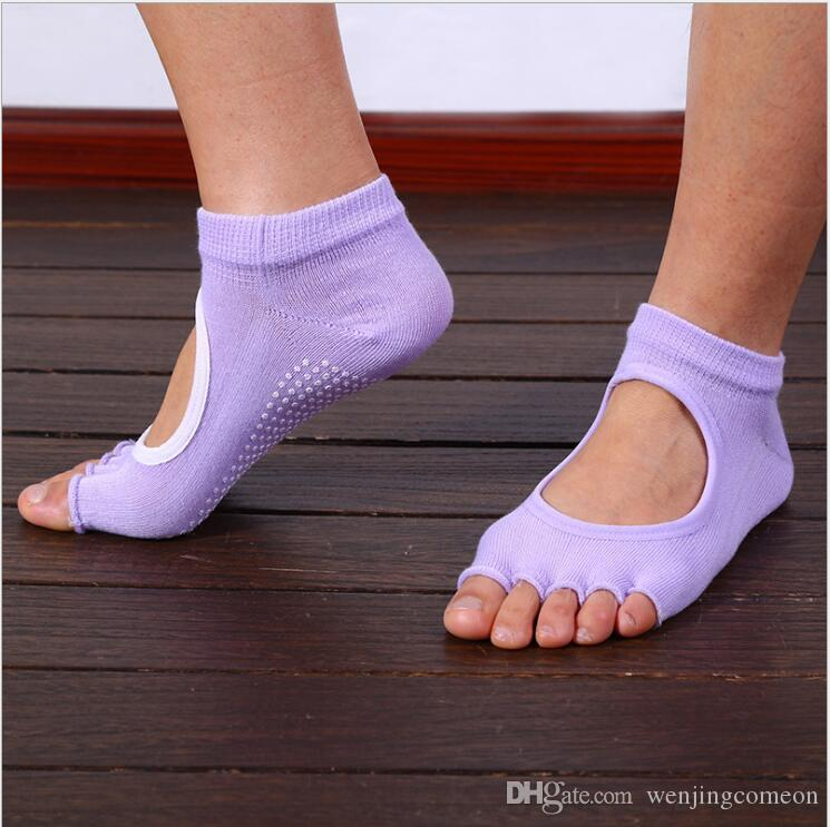 Toe Socks Men&Women Terry Backless Quick-Dry Anti-slip Cotton Pilates Ballet Good Grip Invisible Silicone Socks baby socks