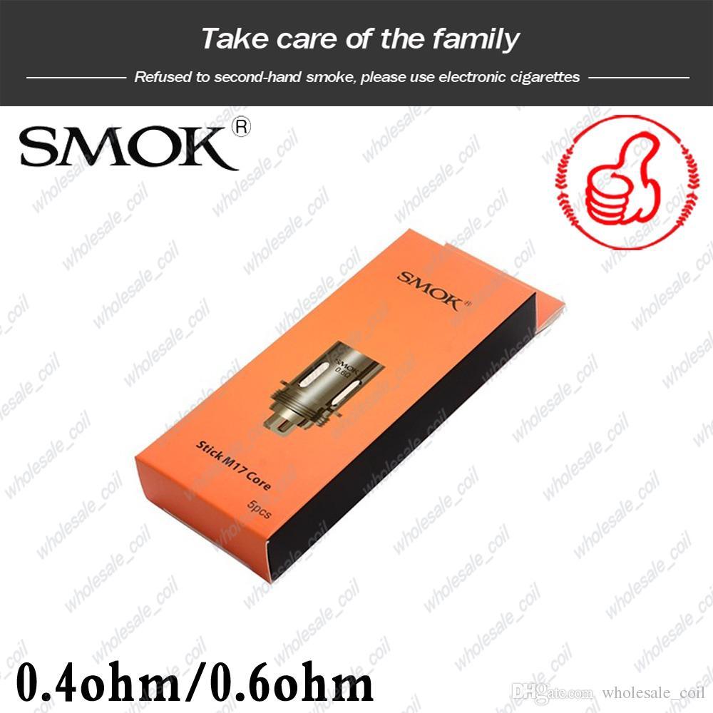 100% аутентичные SMOK Stick M17 катушки замена головки катушки 0.4 ohm 0.6 ohm двойной сердечник для M17 AIO комплект DHL бесплатно