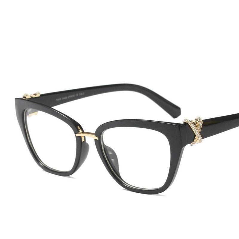 2018 Woman Glasses Optical Frames Luxury Designer Ladies Square ...