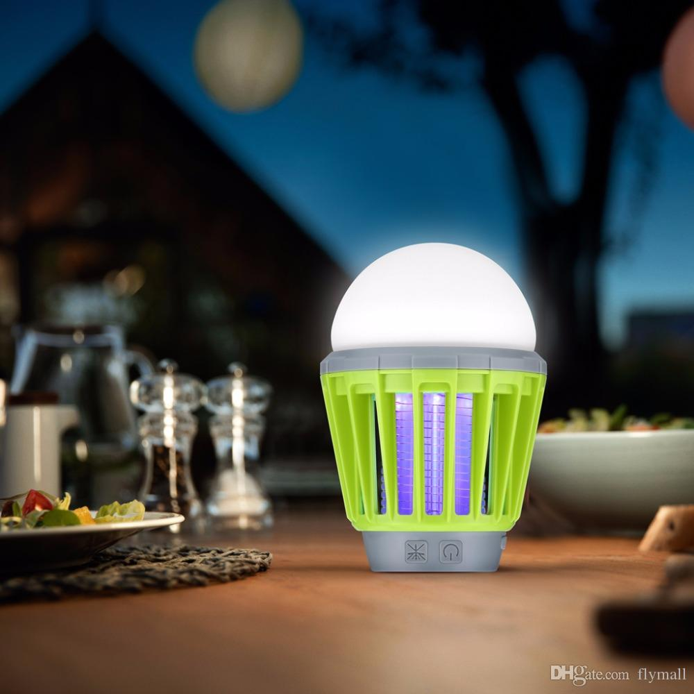 Mosquito Zapper Lantern Camping Light USB Charging Mosquito Killer Lamp Bulb Pest Repeller Waterproof Bug Killer Garden Pest Control Tools
