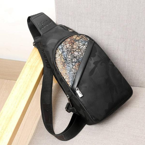 8b6408a72d78 Men's Oxford Cloth Chest Bag Waterproof Shoulder Bag Outdoor Hiking Backpack