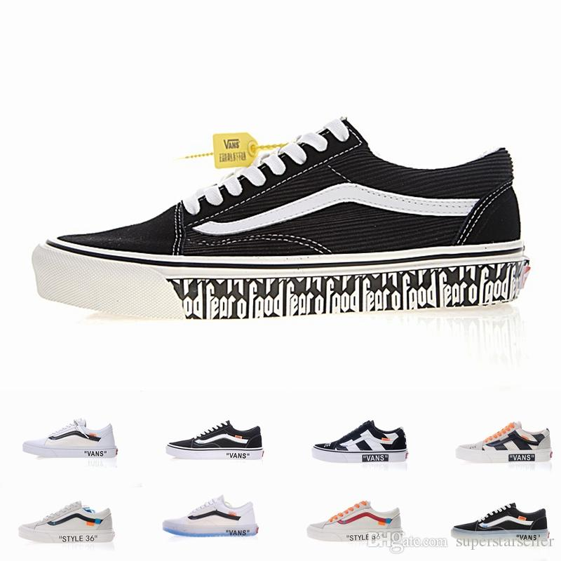 84ca34f41fab 2018 New Old Skool Running Off Zapatillas De Deporte Designer Brand Fashion  Casual Custom Canvas Shoes Womens Sneakers White Mens Trainers Old Skool  Canvas ...