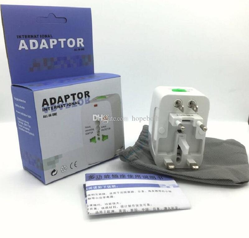 Universal International Travel World Wall Charger AC Power Adapter with AU US UK EU Plug All in One DC Power Socket Charger Adaptors