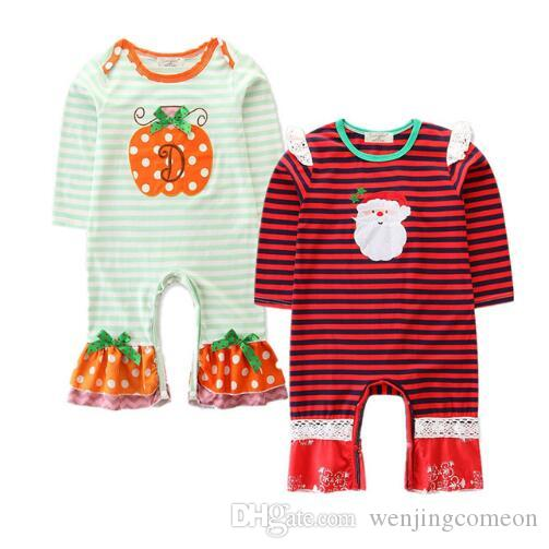 Newborn Baby Romper Halloween Christmas Infant Jumpsuit Baby Boys Cotton Rompers Pumpkin Santa Claus Children Clothing