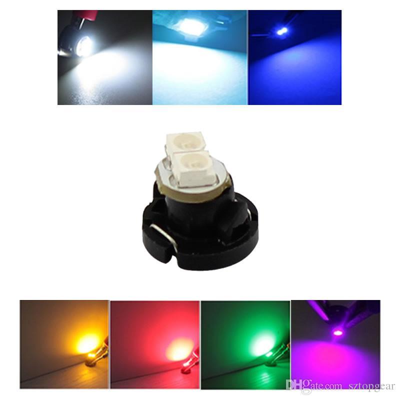 T4.2 1210 2 SMD 3528 Auto Auto Wedge LED Lampen Armaturenbrett Leuchten Instrument Cluster Lampe 7-Farben 12 V DC