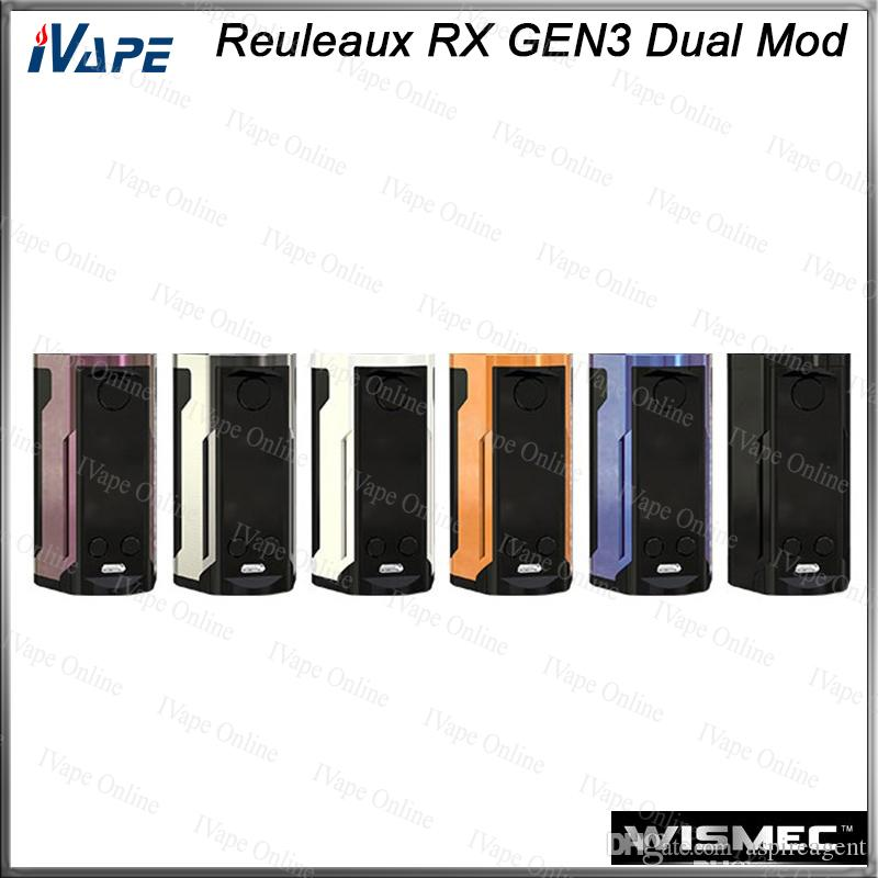 WISMEC Reuleaux RX GEN3 Dual TC Box MOD 230W with 1 3-inch Large Display  Dual Circuit Protection Firmware Upradable 100% Original