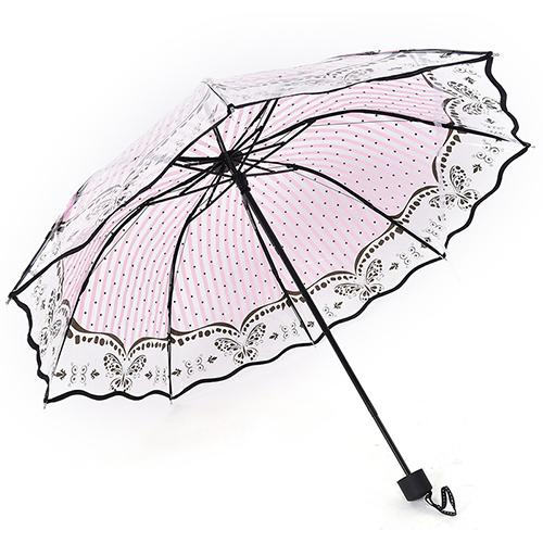 8869a9daf 2017 New Transparent Umbrella Women Folding Rose Pattern Parasol Romantic  Lovely Gift Transparent Umbrella Umbrella Women Pattern Umbrella Online  with ...