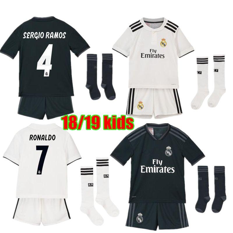 2018 2019 Real Madrid Jersey De Fútbol Para Niños 18 19 Real Madrid ... 97d840e2a90c9