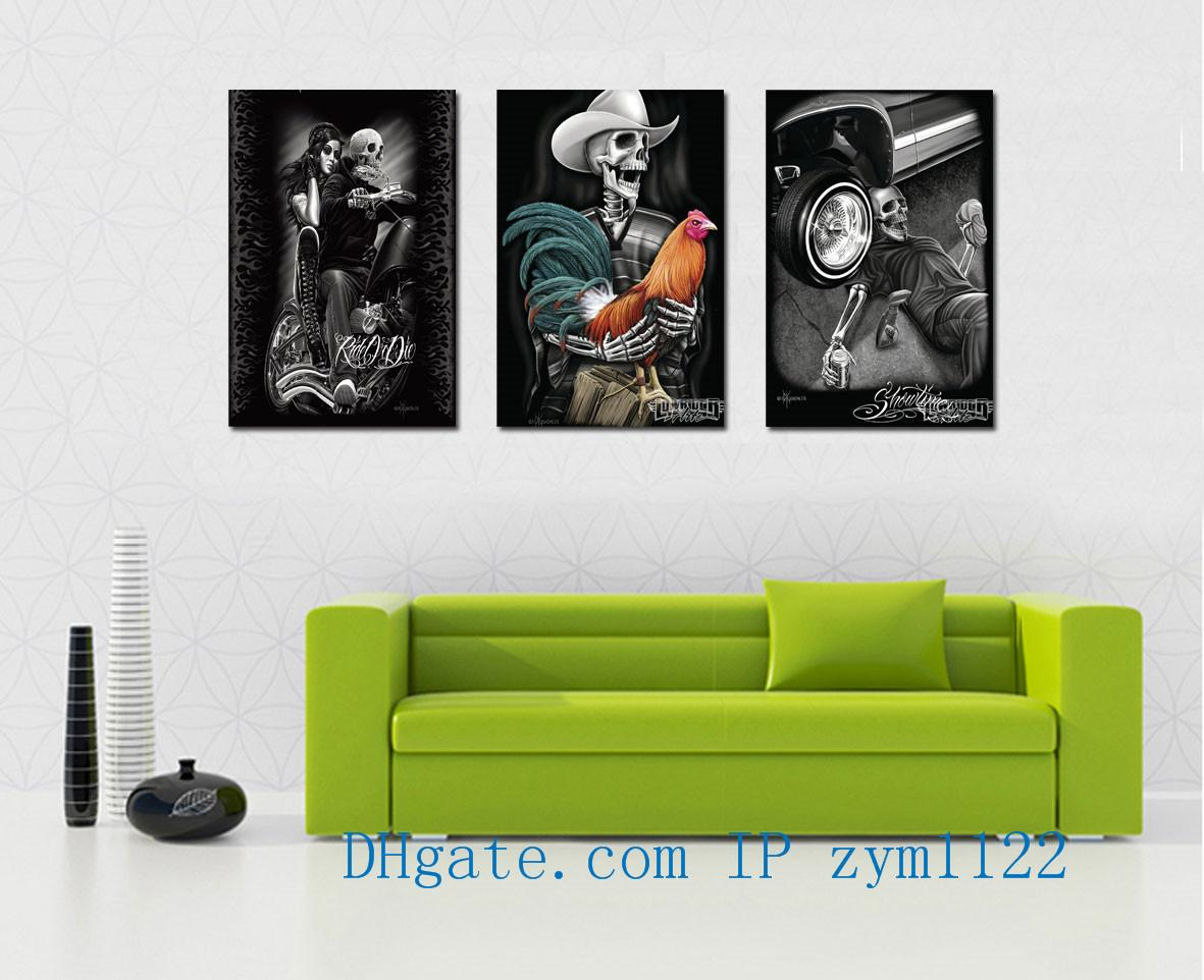 2019 Skull Tattoo Home Decor HD Printed Modern Art Painting On Canvas Unframed Framed From Zym1122 1624